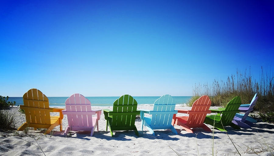 Chairs on beach
